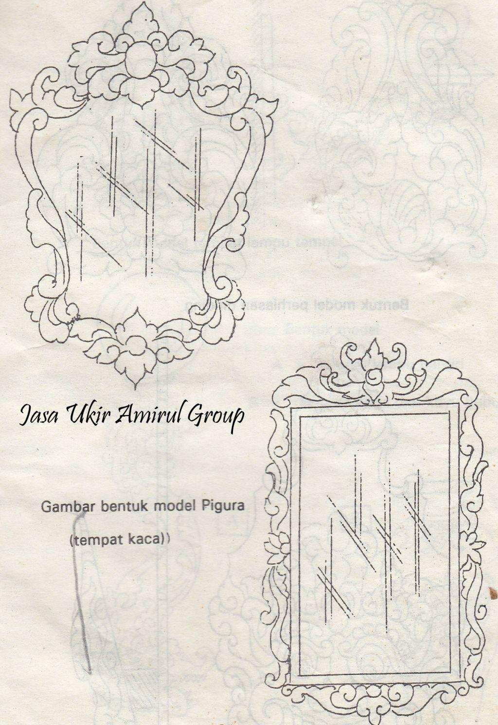 design ukiran pigura