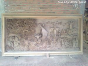 Ukiran Relief 3 Dimensi Unik Khas Jepara