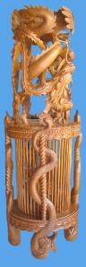 patung hewan macan kurung jepara